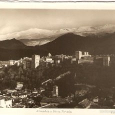 Postales: POSTAL GRANADA ALHAMBRA Y SIERRA NEVADA FOTO L. ROISIN FOTO FOTOGRAFÍA PHOTO SPAIN POSTCARD. Lote 57954668