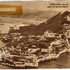Postales: PRECIOSA POSTAL - GIBRALTAR - MENSAJE DE FRANCO - FRENTE DE JUVENTUDES. Lote 58138539