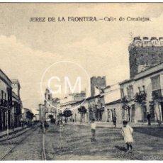 Postales: BONITA POSTAL - JEREZ DE LA FRONTERA (CADIZ) - CALLE DE CANALEJAS - AMBIENTADA. Lote 58205752