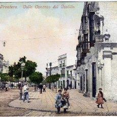 Postales: PRECIOSA POSTAL - JEREZ DE LA FRONTERA (CADIZ) - CALLE CANOVAS DEL CASTILLO - AMBIENTADA. Lote 58205781