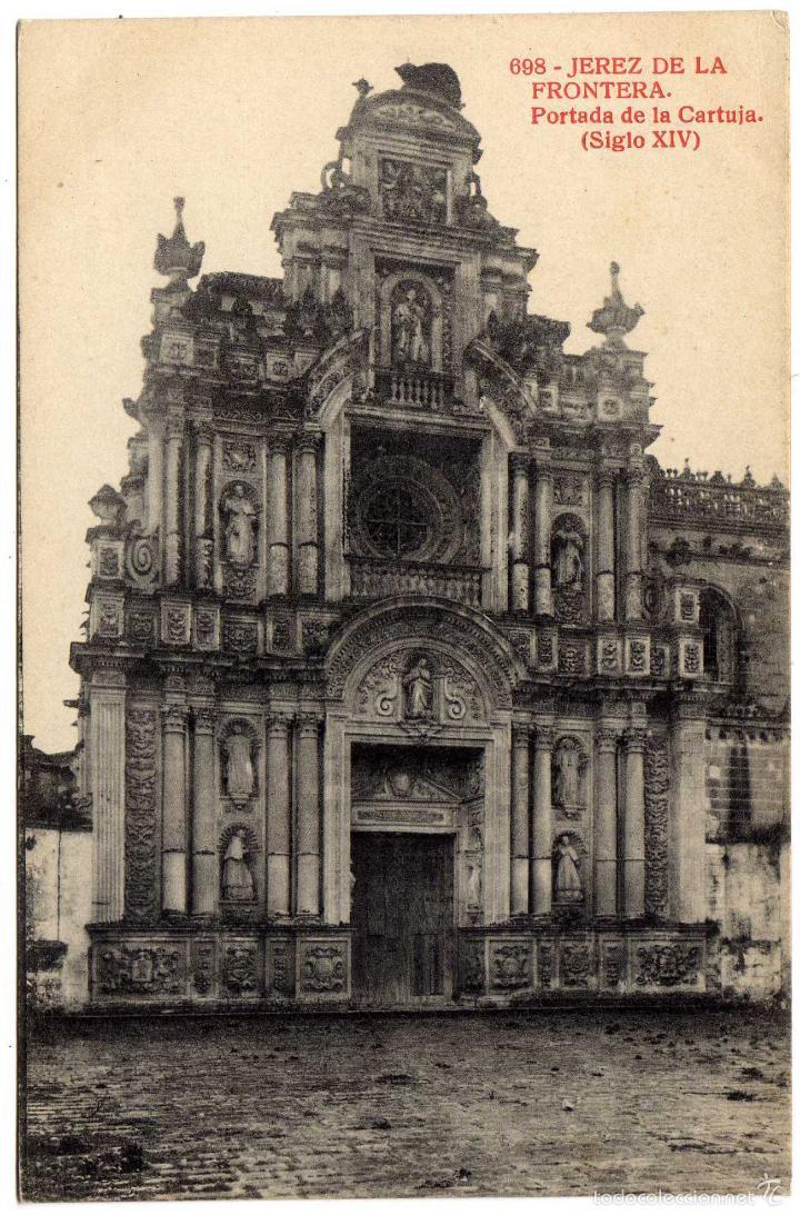 BONITA POSTAL - JEREZ DE LA FRONTERA (CADIZ) - PORTADA DE LA CARTUJA - SIGLO XIV (Postales - España - Andalucía Antigua (hasta 1939))