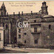 Postales: BONITA POSTAL - JEREZ DE LA FRONTERA (CADIZ) - PARROQUIA DEL SR. SANTIAGO - AMBIENTADA. Lote 58206425