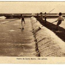 Postales: BONITA POSTAL - PUERTO DE SANTA MARIA (CADIZ) - LAS SALINAS - AMBIENTADA. Lote 58208383