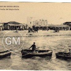 Postales: BONITA POSTAL - SANLUCAR DE BARRAMEDA (CADIZ) - BARRIADA DEL BAJO-GUIA - AMBIENTADA - BARCAS. Lote 58210726