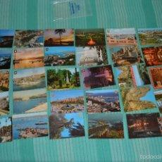 Postales: LOTE 30 POSTALES SIN CIRCULAR - VARIADAS DE MÁLAGA - MUY BUEN ESTADO. Lote 58217331