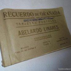 Postales: RECUERDO DE GRANADA- TARJETAS POSTALES- ABELARDO LINARES- LIBRITO CON 20 POSTALES ANTIGUAS A COLOR. Lote 58482695
