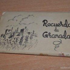Postales: LIBRITO, 10 TARJETAS POSTALES - RECUERDO DE GRANADA - SERIE 1ª - HIJOS DE F. GALLEGOS. Lote 58567266