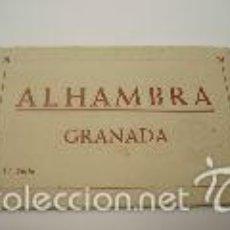 Postales: GRANADA. TIRA 10 POSTALES ANTIGUAS ALHAMBRA. Lote 58601310