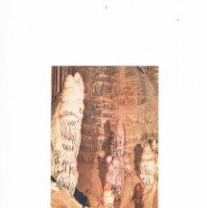 Postales: POSTAL ANTIGUA MALAGA ESCRITA POR DETRAS CUEVA DE NERJA MALAGA EL CORDERITO DETALLE SALA CATACLISMO. Lote 59844180