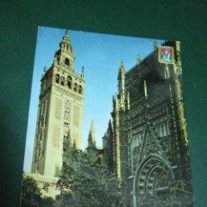 Postales: POSTAL SEVILLA - LA CATEDRAL Y LA GIRALDA - 1963 - DOMINGUEZ 10 - CIRCULADA. Lote 60753823
