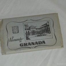 Postales: LIBRITO, 10 TARJETAS POSTALES - RECUERDO DE GRANADA - ANTIGUO - 3ª SERIE. Lote 60775179