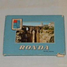 Postales: LIBRITO, 10 TARJETAS POSTALES - RECUERDO DE RONDA, MALAGA - AÑOS 60 - MIRA LAS FOTOGRAFIAS. Lote 60800403