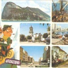Postales: ALGECIRAS, POSTAL RECUERDO, SUBIRATS CASANOVAS, CIRCULADA CON SU SELLO. Lote 61210275