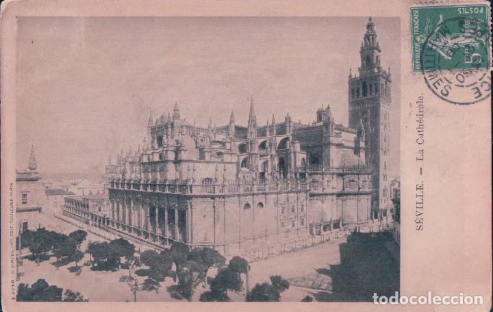 POSTAL SEVILLA.- LA CATEDRAL. CIRCULADA (Postales - España - Andalucía Antigua (hasta 1939))