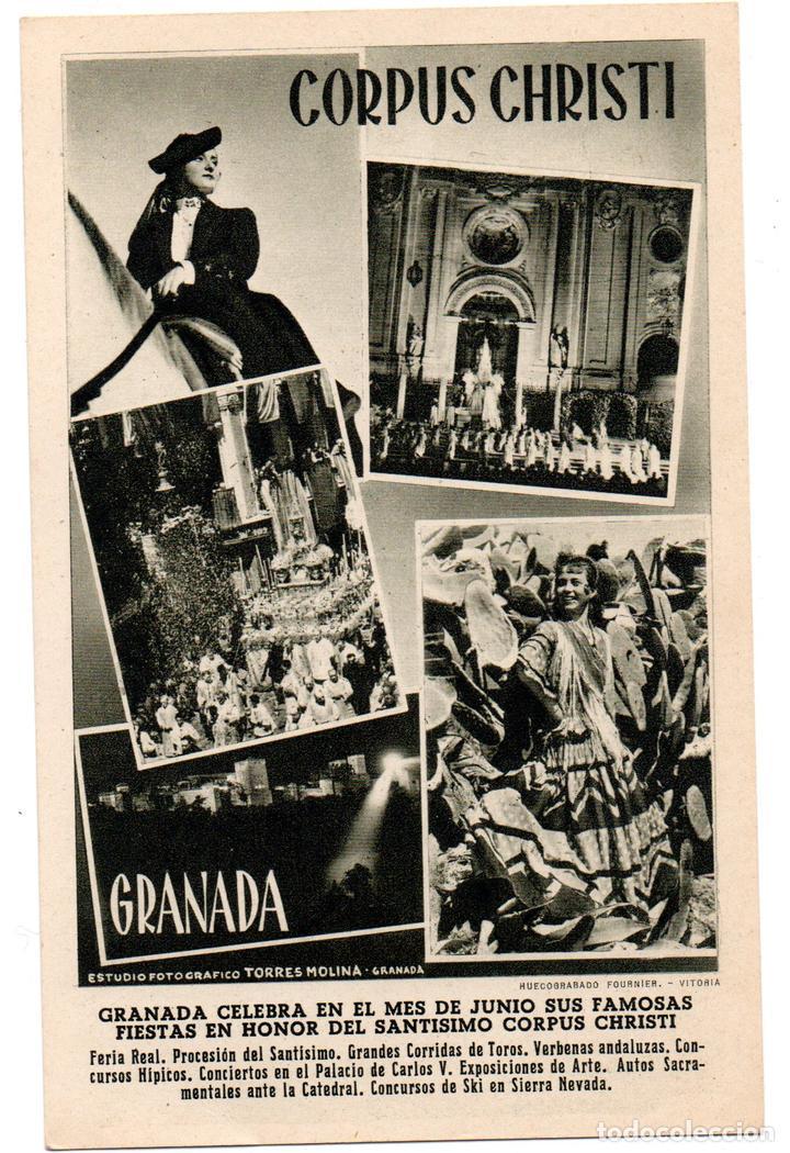 PS6897 GRANADA 'CORPUS CHRISTI'. FOURNIER. CIRCULADA. 1952 (Postales - España - Andalucia Moderna (desde 1.940))