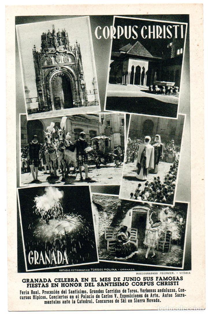 PS6898 GRANADA 'CORPUS CHRISTI'. FOURNIER. CIRCULADA. 1952 (Postales - España - Andalucia Moderna (desde 1.940))