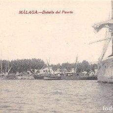 Postales: MÁLAGA.- DETALLE DEL PUERTO. Lote 62047868