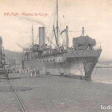 Postales: MÁLAGA.- MUELLES DE CARGA. Lote 62049196