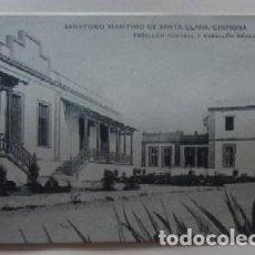 Postales: POSTAL DE CHIPIONA - SANATORIO MARITIMO DE SANTA CLARA, PABELLON CENTRL Y PABLELLON SEVILLA. Lote 62162808