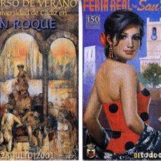 Postales: SAN ROQUE (CADIZ). POSTALES FERIA REAL 2001-2002-.(16-530). Lote 62246892