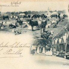 Postales: POSTAL ANTIGUA - NUMERO 59 -SEVILLA -LA FERIA -LAS BUÑOLERAS. Lote 63375616
