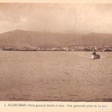 Postales: ALGECIRAS (CÁDIZ).- VISTA GENERAL DESDE EL MAR. Lote 63543236