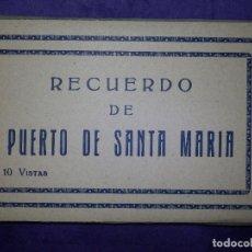 Postales: POSTAL - ESPAÑA - CADIZ . PUERTO DE SANTA MARÍA - 10 POSTALES - VISTAS - SIN EDITOR -. Lote 64068051