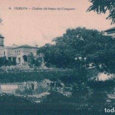 Postales: POSTAL HUELVA . CHALETS DEL PASEO DE CONQUERO . R BUENDIA 6 . HUECOGRABADO MUMBRU BARCELONA. Lote 64494063