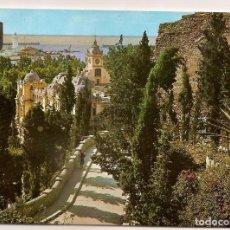 Postales: 41 MALAGA BAJADA DEL CASTILLO AÑO 1961 EDICIONES DOMINGUEZ ESCUDO DE ORO NO CIRCULADA. Lote 64593223