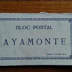 Postales: ANTIGUO BLOC POSTAL AYAMONTE, VISTAS, 12 POSTALES. EDICION F MARTIN ORTA. SIN USAR. Lote 64597111