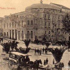 Postkarten - JAEN PLAZA DE LEON MAZOS TEATRO CERVANTES. Edición papelería de José M. Romero. - 64702387