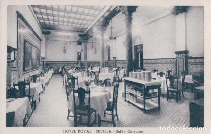 postal sevilla.- hotel royal.- salon comedor. h - Comprar Postales ...