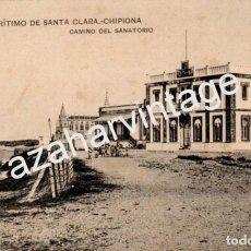 Postales: TARJETA POSTAL DE CHIPIONA, CADIZ. SANATORIO MARITIMO DE SANTA CLARA, CAMINO DEL SANATORIO. Lote 66449090