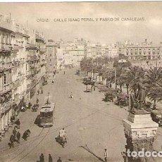 Postales: CÁDIZ.- CALLE ISSAC PERAL Y PASEO DE CANALEJAS. Lote 66864702