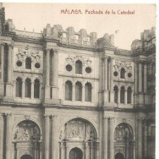 Postais: == AB822 - POSTAL - MALAGA - FACHADA DE LA CATEDRAL - FOTOTIPIA THOMAS - BARCELONA. Lote 67457469