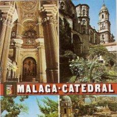 Postales: MALAGA CATEDRAL DOMINGUEZ Nº 5 ESCRITA NO CIRCULADA ESCUDO DE ORO. Lote 67507621
