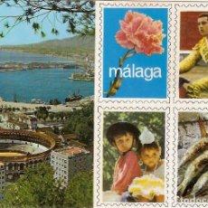 Postales: MALAGA VISTA DESDE GIBRALFARO ESPETOS TOROS ESCRITA NO CIRCULADA DOMINGUEZ Nº 14 ESCUDO DE ORO. Lote 67547189