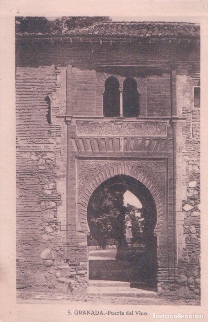 POSTAL GRANADA- PUERTA DEL VINO. 5. SUCESOR DE CASSO (Postales - España - Andalucía Antigua (hasta 1939))