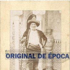 Postales: (FOT-161201)FOTOGRAFIA DE MARIANO FERNANDEZ PRINCIPE DE LOS GITANOS EN LA ALHAMBRA,MODELO DE FORTUNY. Lote 68206657