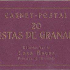 Postales: P- 6302. BLOC DE POSTALES 20 VISTAS DE GRANADA, CASA REYES. 2ª SERIE. . Lote 68446357