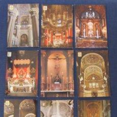 Postales: 9 ANTIGUAS POSTALES COLOR DE LOS INTERIORES DE LA CATEDRAL DE MALAGA – NUEVAS, SIN CIRCULAR. Lote 68849157