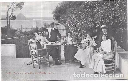 TARJETA POSTAL DE CADIZ. EN UN VENTORRILLO DE PUERTA TIERRA. PURGER & CO., MÜNCHEN. NO. 5118. (Postales - España - Andalucía Antigua (hasta 1939))