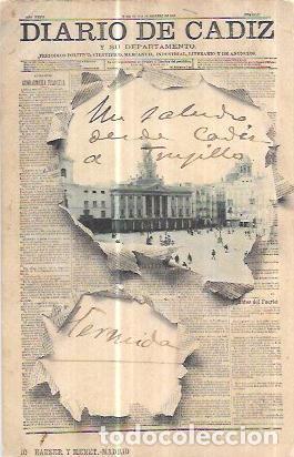 TARJETA POSTAL DE CADIZ. DIARIO DE CADIZ Y SU DEPARTAMENTO. HAUSER Y MENET. - MADRID. (Postales - España - Andalucía Antigua (hasta 1939))