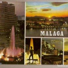 Postales: MALAGA DIVERSOS ASPECTOS COSTA DEL SOL DOMINGUEZ Nº 82 EDICIONES ORO. Lote 70255169