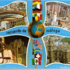Postales: MALAGA COSTA DEL SOL VISTAS PARCIALES DOMINGUEZ Nº 24 EDICIONES ORO. Lote 70255305