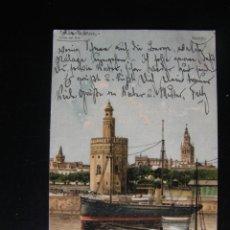 Postales: SEVILLA. TORRE DEL ORO. 1915. STENGEL & C.. Lote 71204193
