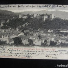 Postales: LA ALHAMBRA Y SIERRA NEVADA. DESDE SAN MIGUEL EL BAJO.1903.. Lote 71525551