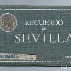 Cartoline: ÁLBUM POSTAL. RECUERDO DE SEVILLA. 20 VISTAS, COMPLETO. JOSÉ NAVARRO. SIERPES, 4. SEVILLA.. Lote 71560167