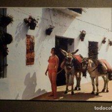 Postales: POSTAL - ESPAÑA - MÁLAGA - MIJAS - COSTA DEL SOL - ¿ A LOS TOROS O A LA PLAYA ?. Lote 71806047