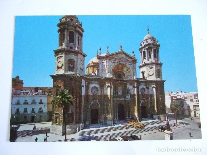 POSTAL CADIZ - CATEDRAL - FACHADA PRINCIPAL -1962 - SICILIA1 - SIN CIRCULAR (Postales - España - Andalucia Moderna (desde 1.940))